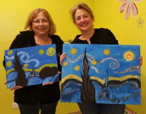 1 person can paint Starry Night on either size canvas