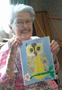 owl painting for seniors